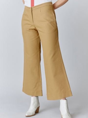 WIDE LEG crop PANT in LUXE CANVAS - 4 Colors