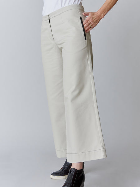 WIDE LEG crop PANT in LUXE CANVAS - 4 Colors - 60% OFF!