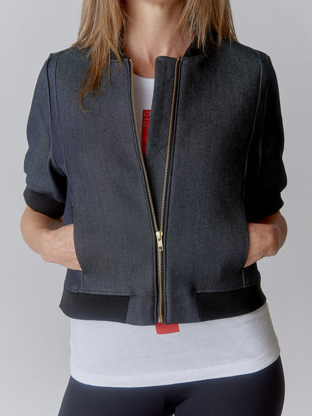 DENIM (Dressy) BOMBER Jacket