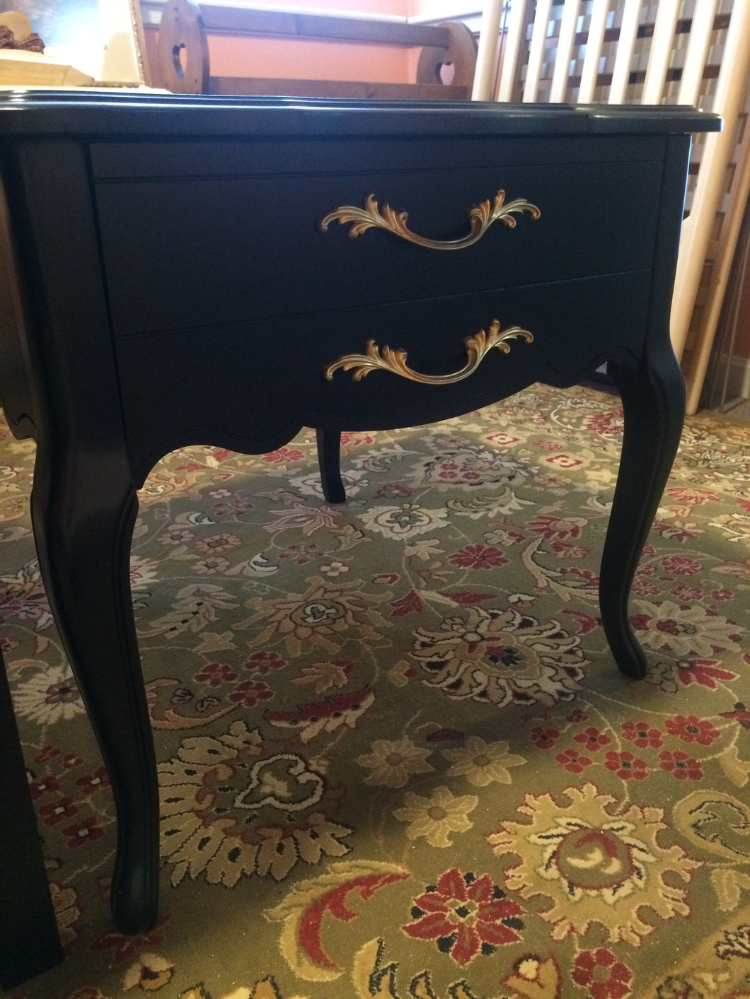 Black/Gold End Table