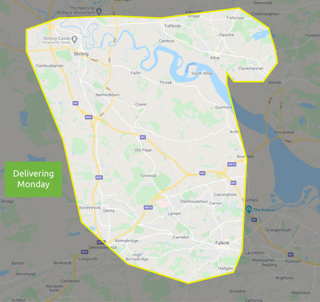 Stirling delivery areas