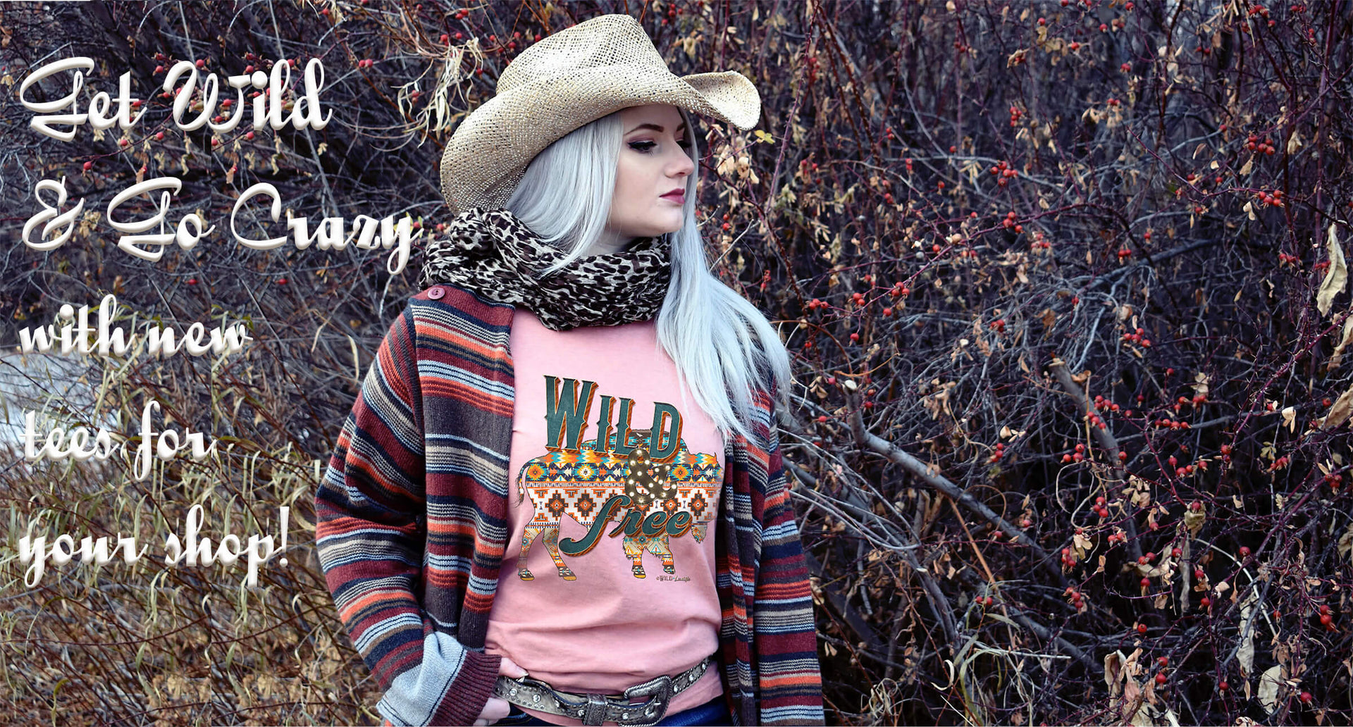 Go Crazy with Wild Lucille Wholesale Graphic Tees - Western, aztec, statement, coffee, cowgirl, cowboy, cactus, funny, clever, faith teeshirts for women