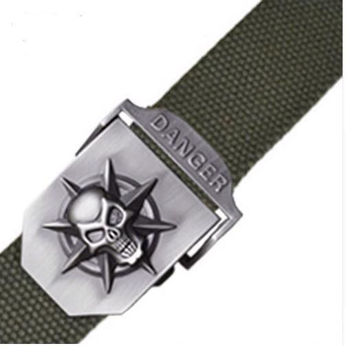 Skull Head Men's Canvas Belt Military