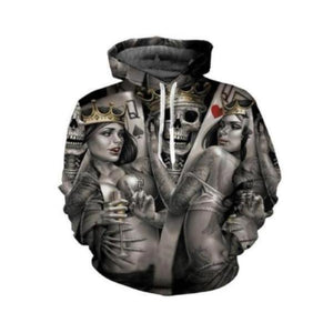 3D Metal Skull Bride Groom Hoodies