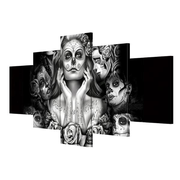 Skull women picture HD printed on canvas