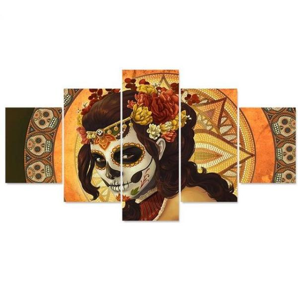 Mexican skull painting  HD picture printed on canvas