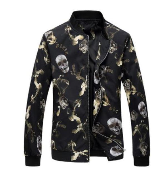 Army Style Skull pattern Thin Jacket