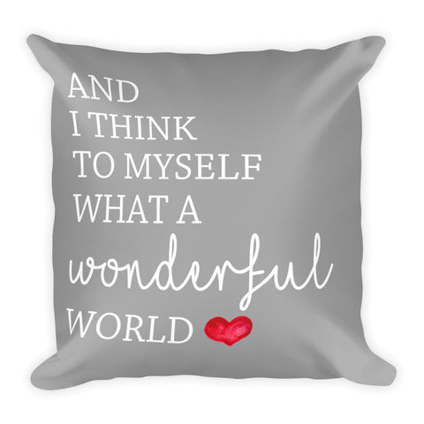 Wonderful World Pillow