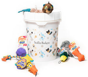 Dog Toy Collection & Bucket