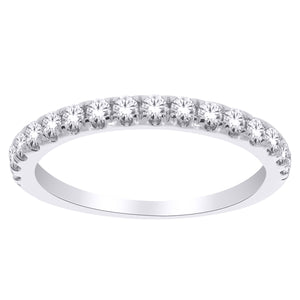14K White Gold Round Diamond 1/2CT Anniversary Band