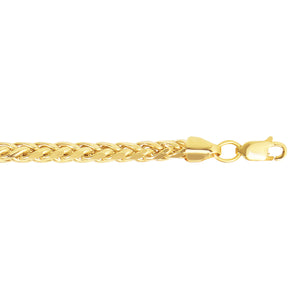 14kt 22 inches Yellow Gold 4.1mm Diamond Cut Lite Franco Necklace with Lobster Clasp