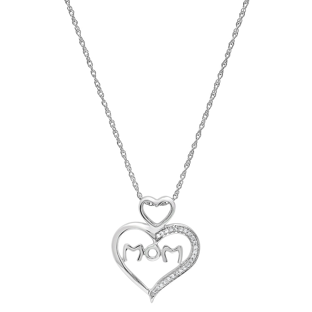 15mm x 22mm Sonia Jewels Sterling Silver Heart Textured Love Knot Pendant