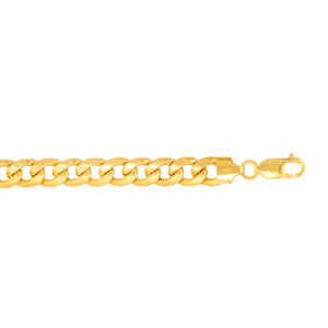 14kt 8.5 inches Yellow Gold 7.8mm Light Miami Cuban Link Bracelet Lobster Clasp