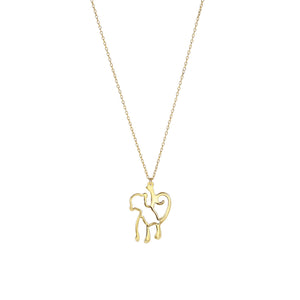 14K Gold Monkey Necklace