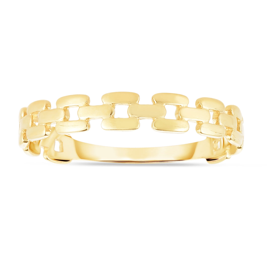 14K Gold Chain Link Ring
