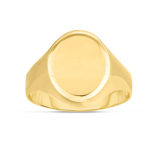 14K Yellow Gold Oval Ring
