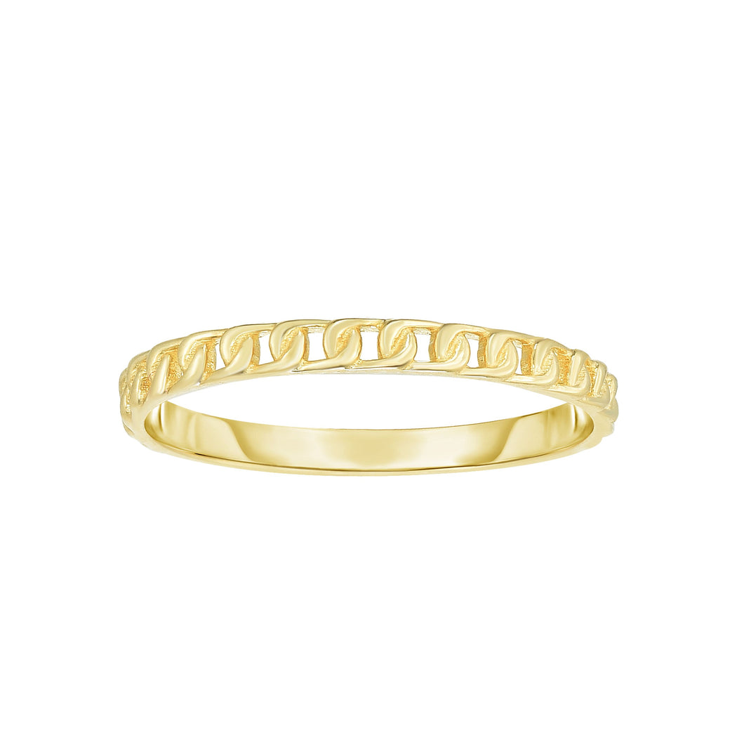 14K Yellow Gold Link Ring