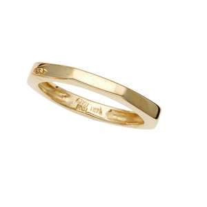 14K Gold Octagon Nut Ring