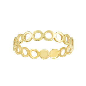 14K Gold Open Circle Ring