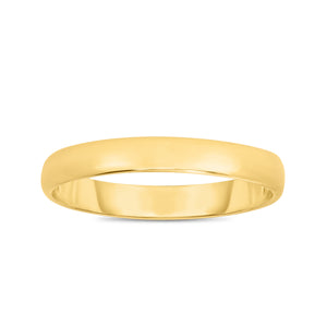 14kt Yellow Gold 3.0mm Shiny Comfort Fit Size 6 Wedding Band