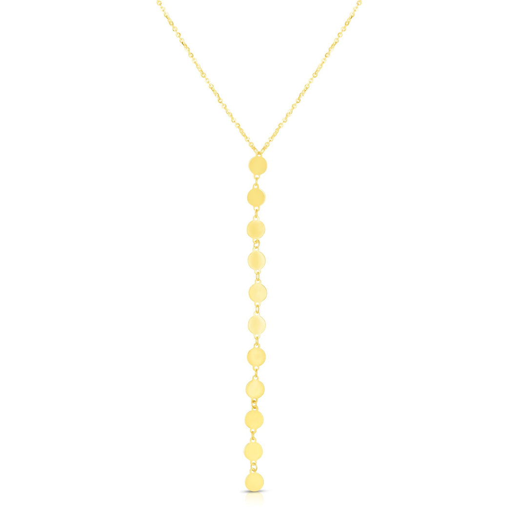14kt Gold 17 inches Yellow Finish Necklace with Lobster Clasp