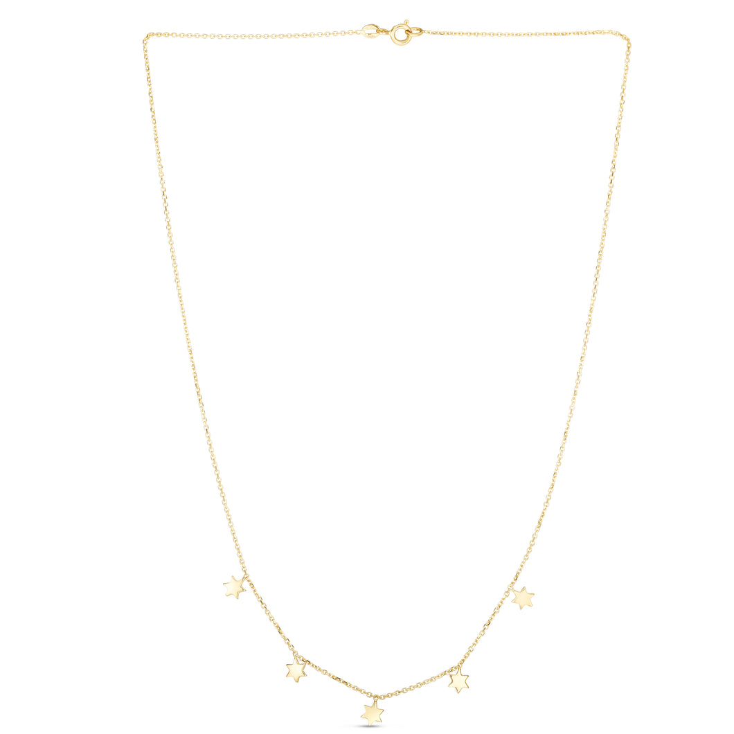 14kt Gold 17 inches Yellow Finish Necklace with Spring Ring Clasp