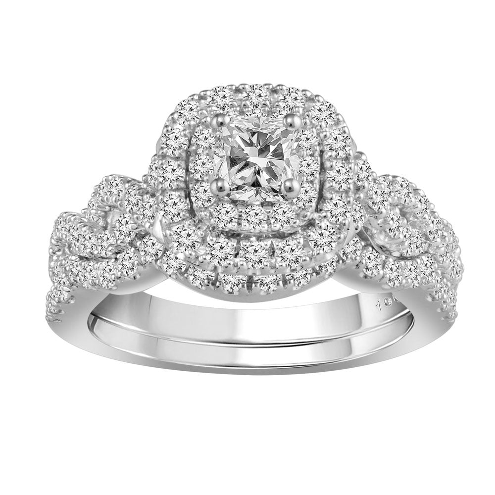 eng prd large carat halo wg infinity ring engagement ln tb