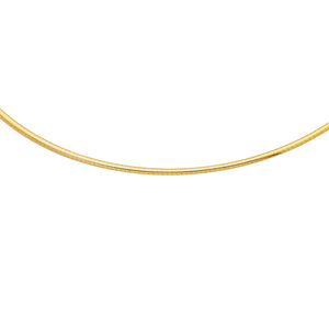 14K Yellow Gold Classic Omega Necklace