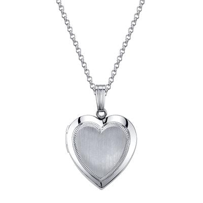 Sterling Silver 15MM Heart Locket on 18