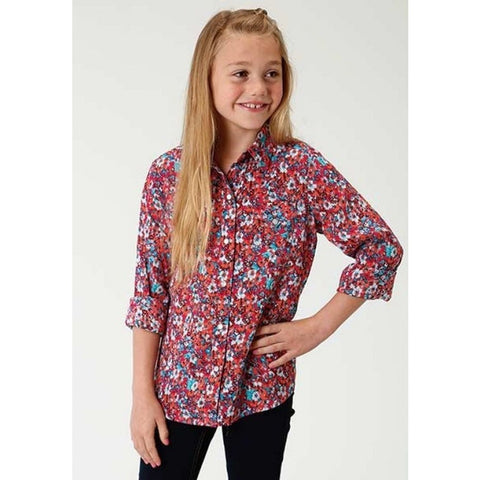 Girls Floral Print Shirt