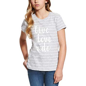 Girls Heather Gray Stripe