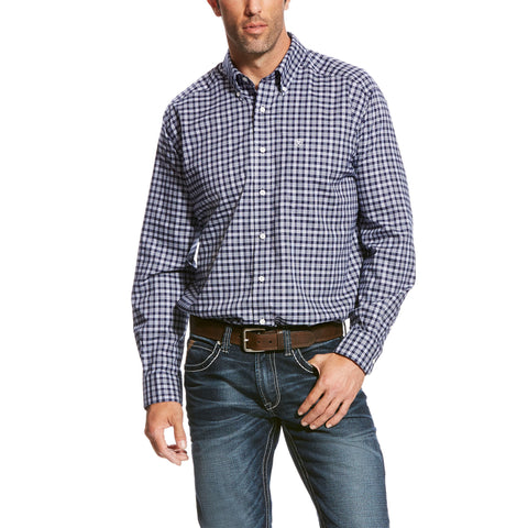 WF Quadri Plaid Shirt  Deep Pacific
