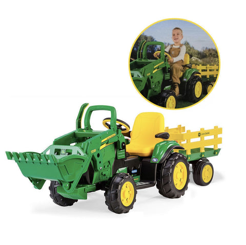 John Deere 12volt Ground Loader with Trailer