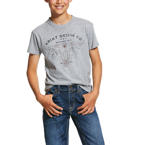 Boys Western Grit Tee Athletic Heather