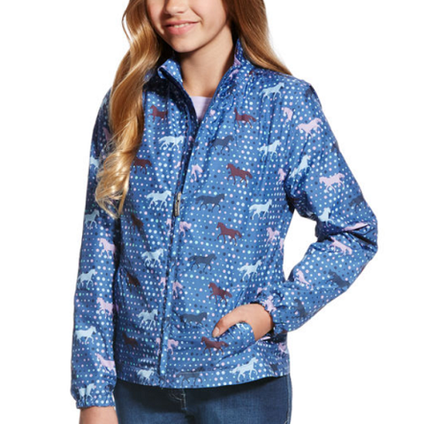 Avery Jacket Blue Saga Trot Print