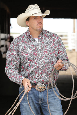 Cinch Mens Paisley Print Shirt