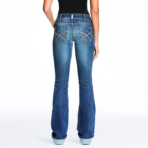 REAL Mid Rise Boot Cut Gemstone Jeans