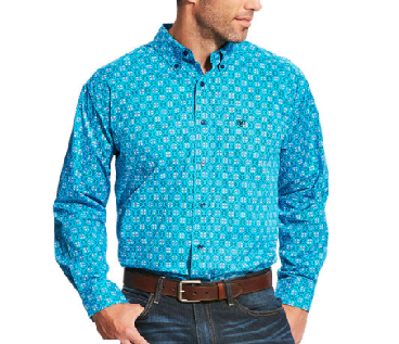 Laketon LS Deep Aqua Shirt
