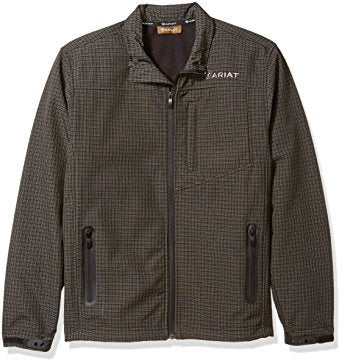 Mens Vernon Softshell Black Grid