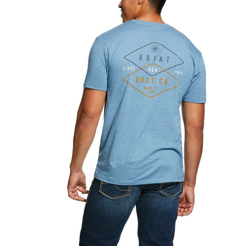 MNS Overlap Tee Blue Heather