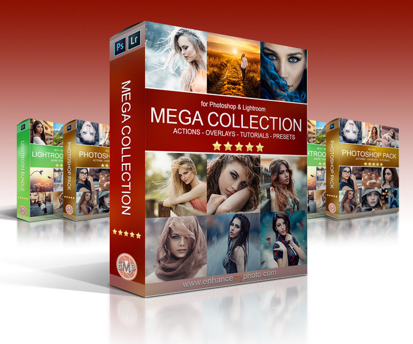 Mega Collection for PS & LR - All Actions - Overlays - Presets