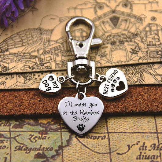 """72c6fd5bb67 ... Stainless Steel """"Paw Print"""