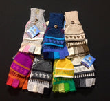 Traditional Print Mitten Gloves