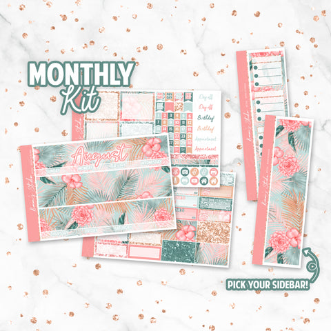 "August ""Boho Summer"" Monthly Overview Kit"