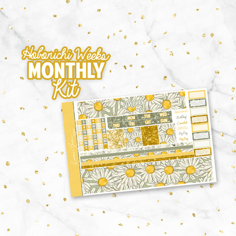 "May ""Flower Power"" Hobonichi Weeks Monthly Kit"