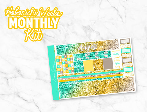August Glitter Bomb HOBONICHI Weeks Monthly Kit