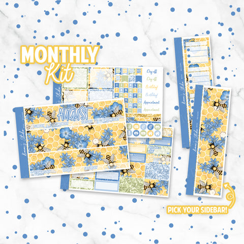 "August ""Bee Happy"" Monthly Overview Kit"
