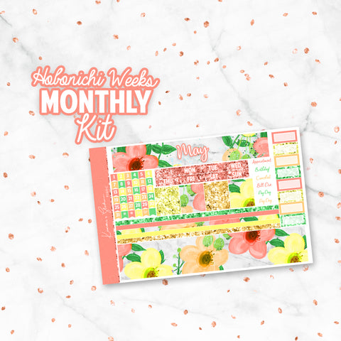 "May ""Summer Fling"" Hobonichi Weeks Monthly Kit"