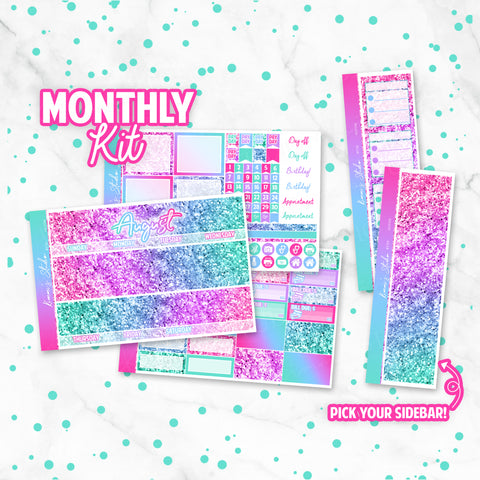 "August ""Mermaid Glitter"" Monthly Overview Kit"
