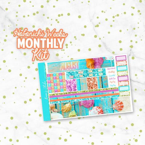 "August ""Seashells"" HOBONICHI Weeks Monthly Kit"